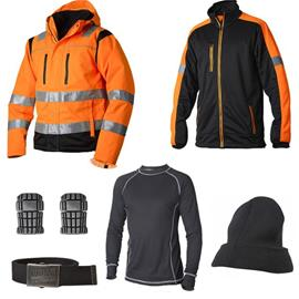 Vidar Workwear Orange Talvipaketti Koko S