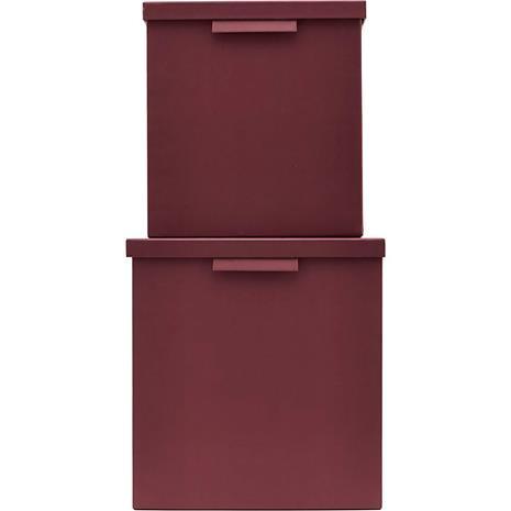 Monograph File Storagebox 2-Pcs High, Burgundy