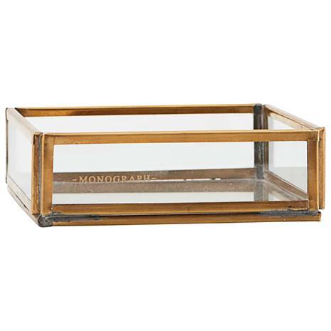 Monograph Storage Box Low, Brass