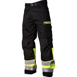 Vidar Workwear V500551C146 Vyötäröhousut musta/keltainen C146