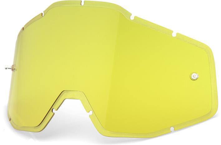 100% Injected HD Anti-Fog F. Lenses Racecraft/Accuri/Strata, yellow