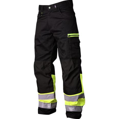 Vidar Workwear V500551D096 Vyötäröhousut musta/keltainen D96