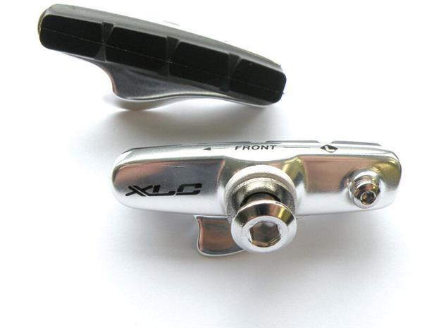 XLC Cartridge BR-R02 Road Brake Shoes 55mm for Carbon Rims 4 Pieces, silver/blue