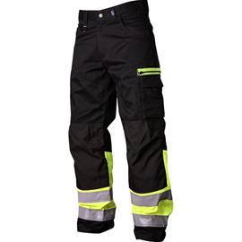 Vidar Workwear V500551D104 Vyötäröhousut musta/keltainen D104