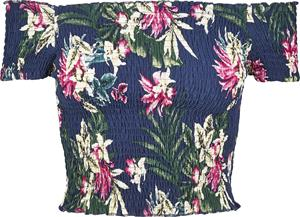 Urban Classics - Ladies AOP Smoke Tee - T-paita - Naiset - Sininen