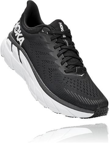 Hoka One One Clifton 7 Running Shoes Men, black/white