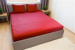 Dossa aluslakana, punainen, 220 x 220 cm