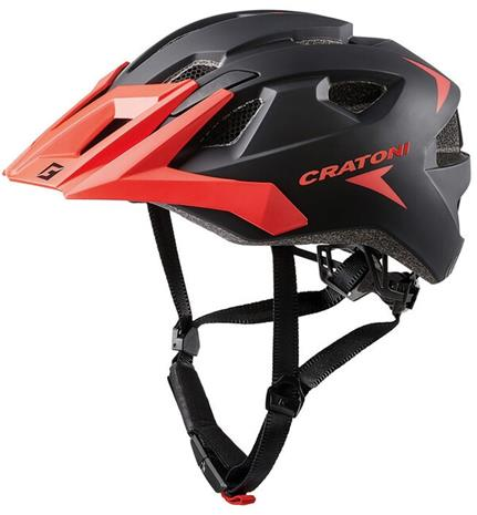 Cratoni AllRide MTB Helmet, black/red matte