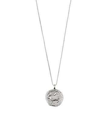Pilgrim Aries Zodiac Sign Accessories Jewellery Necklaces Dainty Necklaces Hopea Pilgrim SILVER PLATED