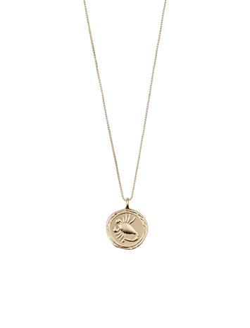 Pilgrim Scorpio Zodiac Sign Accessories Jewellery Necklaces Dainty Necklaces Kulta Pilgrim GOLD PLATED