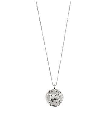 Pilgrim Taurus Zodiac Sign Accessories Jewellery Necklaces Dainty Necklaces Hopea Pilgrim SILVER PLATED