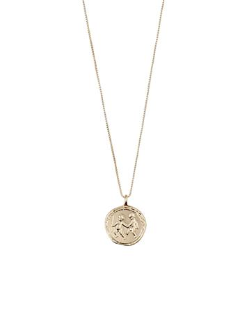 Pilgrim Gemini Zodiac Sign Accessories Jewellery Necklaces Dainty Necklaces Kulta Pilgrim GOLD PLATED