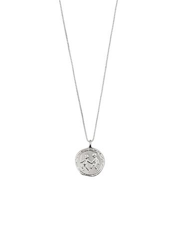 Pilgrim Gemini Zodiac Sign Accessories Jewellery Necklaces Dainty Necklaces Hopea Pilgrim SILVER PLATED