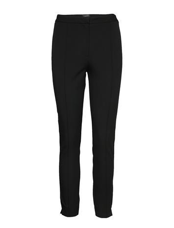 Selected Femme Slfilue Mw Pintuck Pant B Noos Suoralahkeiset Housut Musta Selected Femme BLACK