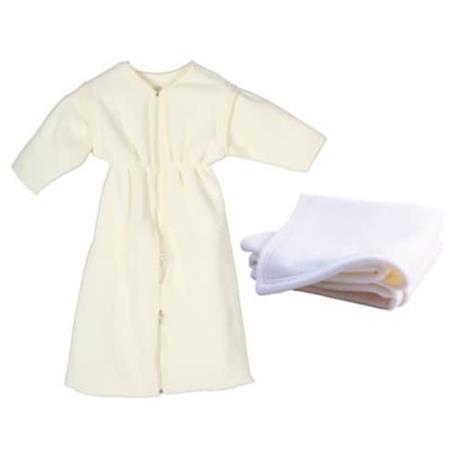 DOMIVA makuupussi + ruudullinen - 0-6 kk - 70 x 80 cm - sekoitettu vauva - Ecru beige