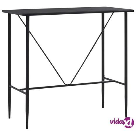 vidaXL Baaripöytä musta 120x60x110 cm MDF