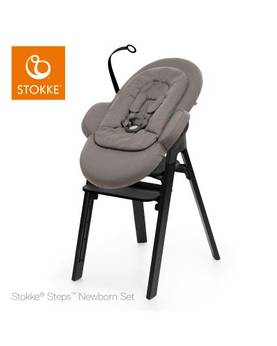 Stokke Steps Newborn Set Greige- black plastic