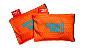 SmellWell Active Freshener Inserts for Shoes and Gear, geometric orange