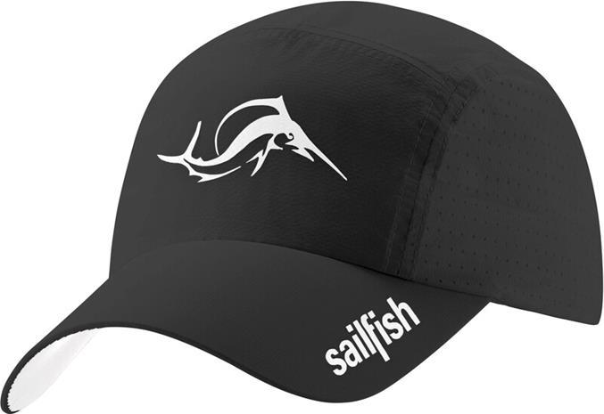 sailfish Running Cap, black, Miesten hatut, huivit ja asusteet