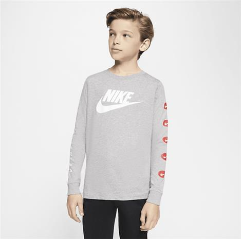 Nike J NSW FUTURA LS TEE DARK GREY HEATHER