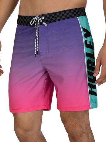 "Hurley Phantom Fastlane Flashback 18"""" Boardshorts pink Miehet"