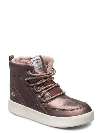 Viking Smilla Mid Wp Tennarit Sneakerit Kengät Kulta Viking METALLIC/BROWN