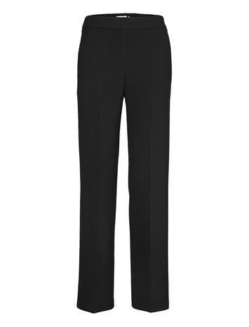 Marimekko Hakku Long Solid Trousers Suoralahkeiset Housut Musta Marimekko BLACK
