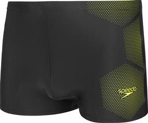 speedo Tech Placement Aquashorts Men, tech black/fluo yellow