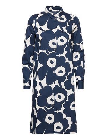 """Marimekko Ylvä""""S Pieni Unikko Ii Dress Polvipituinen Mekko Sininen Marimekko OFF-WHITE, DARK BLUE"""