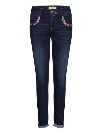 MOS MOSH Naomi Jewel Jeans Suorat Farkut Sininen MOS MOSH BLUE