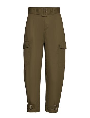 Tommy Jeans Tjw High Rise Belted Pant Suoralahkeiset Housut Vihreä Tommy Jeans OLIVE TREE