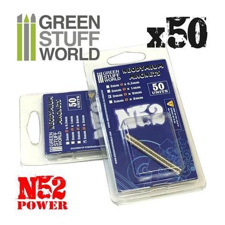 GSW N52 Neodymium Magneetti 3x0,5mm (50kpl)