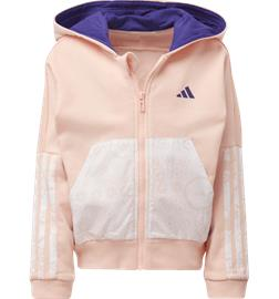 Adidas G FRENCH TERRY KNIT HOODIE HAZE CORAL