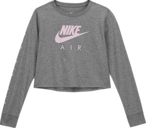 Nike G NSW AIR CROP LS TEE CARBON HEATHER