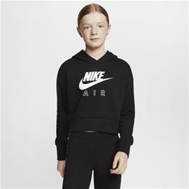 Nike G NSW AIR CROP HOODIE BLACK/WHITE