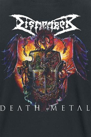Dismember - Death metal - T-paita - Miehet - Musta