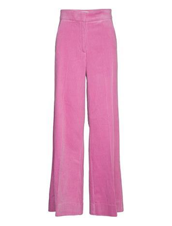 Second Female D Lla Hw Trousers Leveälahkeiset Housut Vaaleanpunainen Second Female MOONLIGHT MAUVE