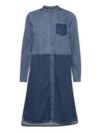 Culture Cupaola Dress Polvipituinen Mekko Sininen Culture MEDIUM BLUE WASH