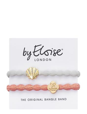 ByEloise Seashell White And Metallic Gold Quatrefoil Coral Accessories Hair Hair Accessories Valkoinen ByEloise WHITE/CORAL