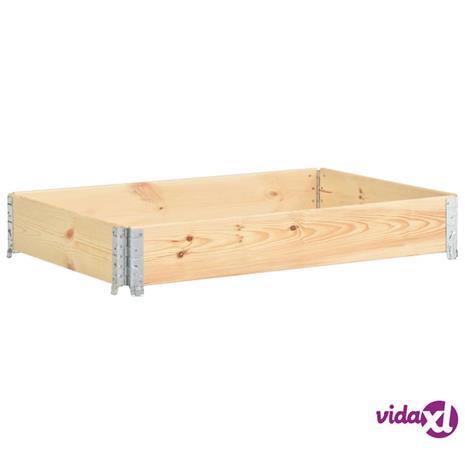 vidaXL Kuormalavan reunus 50x150 cm täysi mänty
