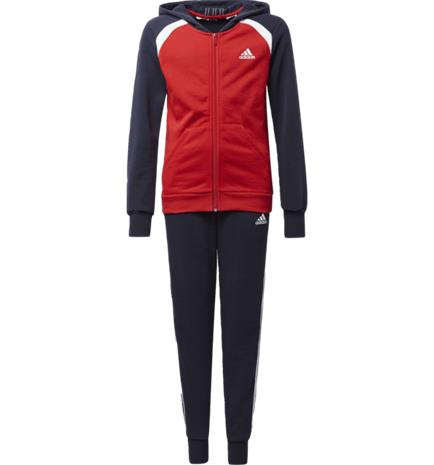 Adidas G HOODED COTTON TRACKSUIT SCARLET