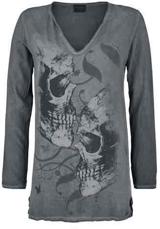 Alchemy England - Facing Death - Pitkähihainen paita - Naiset - Harmaa