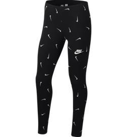 Nike G NSW FAVORITES LEGGING AOP BLACK/WHITE