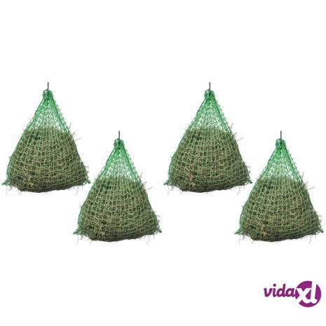 vidaXL Heinäverkot 4 kpl pyöreä 0,75x0,5 m PP
