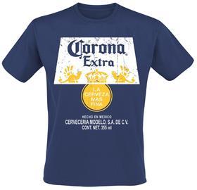 Corona - Extra Logo - T-paita - Miehet - Laivastonsininen