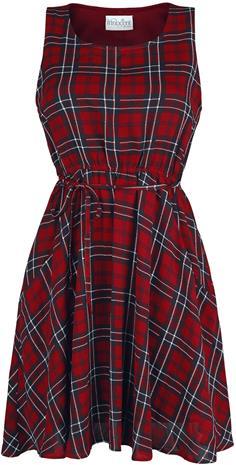 Innocent - Glasgow Dress - Lyhyt mekko - Naiset - Punainen musta