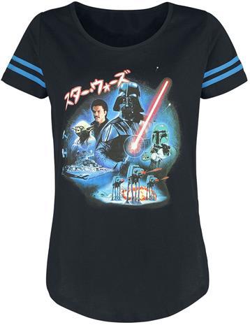Star Wars - Episode 5 - Das Imperium schlägt zurück - Poster - T-paita - Naiset - Musta