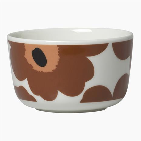 Marimekko Unikko Bowl 2.5 dl, White / Brown / Black