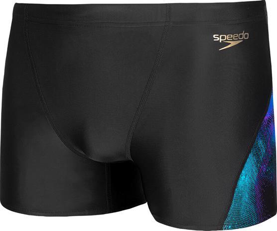 speedo Allover V-Cut Aquashorts Men, nebula camo black/violet/pool