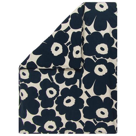 Marimekko Unikko pussilakana, 150 x 210 cm, puuvilla - tummansininen
